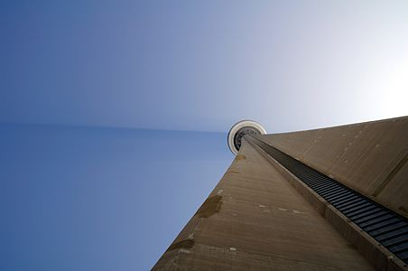 Tyndall effect on CN Tower, Toronto