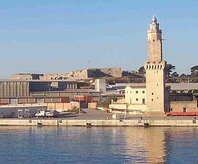 Port de portop ponent torre de senyals amb la for Francisco peluqueros porto pi