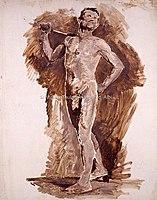 Toulouse-Lautrec - HOMME, ATTITUDE DE MARCHE, vers 1882,1885, MTL.97.jpg