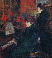 Toulouse-Lautrec - The Singing Lesson. (The Teacher, Mlle.Dihau, with Mme.Faveraud), 1898.jpg