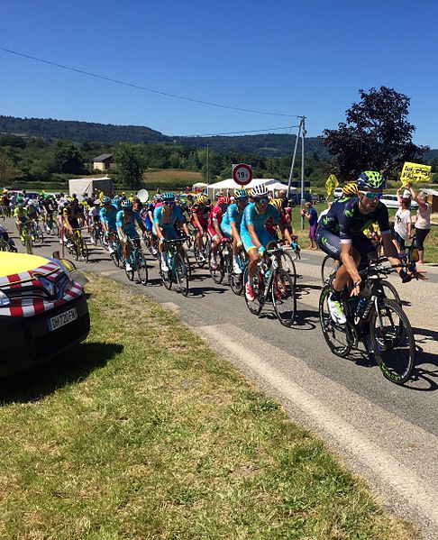 Tour de France 2016 à Champdor, Ain.
