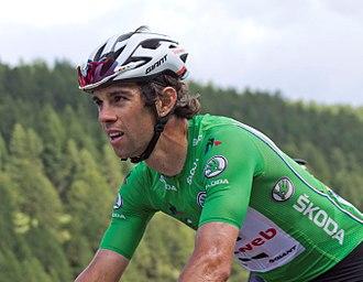 Michael Matthews (cyclist) - Matthews wearing the green jersey at the 2017 Tour de France