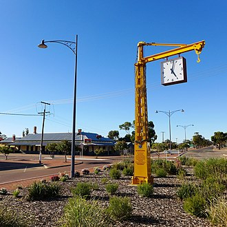 Narembeen, Western Australia - Narembeen town clock, 2014