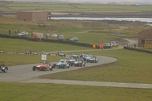 Anglesey Circuit - Caterhams race in 2006, with the Irish Sea in the background.