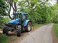 Tractor on Ridge Lane - geograph.org.uk - 802657.jpg