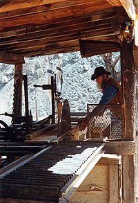Early 20th century sawmill, maintained at Jerome, Arizona.