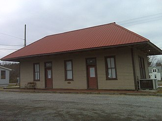 Marion Station, Maryland - The train station building, which is now the Accohannock Indian Museum.