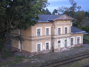 Gaižiūnai - The old train station