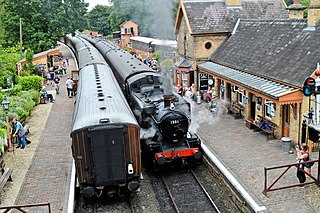 Arley railway station Station in Worcestershire, England