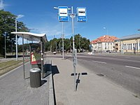 Tram stop Linnahall in Tallinn 8 July 2017.jpg