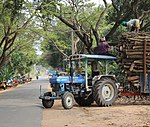 Transporting timber in India.jpg
