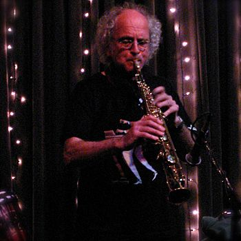 English: Trevor Watts on alto saxophone, perfo...