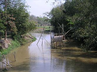 North Tripura district - River scene in North Tripura