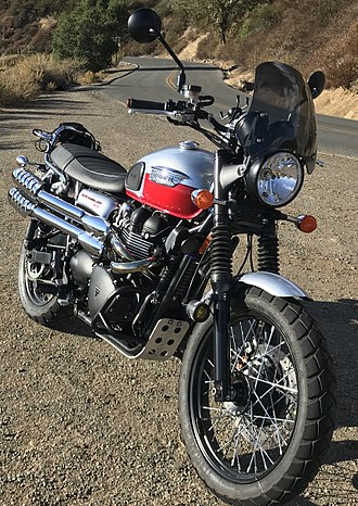 Triumph Motorcycles Ltd - Example of modded Triumph Scrambler (2014)