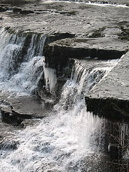 Tumbling water and dripping icicles - geograph.org.uk - 698065