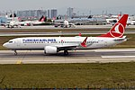 Turkish Airlines, TC-LCF, Boeing 737-8 MAX (31423175888).jpg