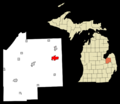 Tuscola County Michigan Incorporated and Unincorporated areas Deford Highlighted.png
