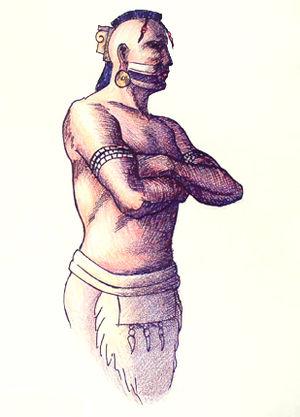 Tuskaloosa - Chief Tuskaloosa. Illustration by H. Roe