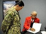 Tuskegee Airman visits JTF-CS for Black History Month celebration 130222-N-VJ282-005.jpg