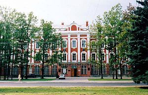 Saint Petersburg State University - The Twelve Collegia building on Vasilievsky Island in Saint Petersburg is the university's main building and the seat of the rector and administration (the building was constructed on the orders of Peter the Great for the 12 collegia)