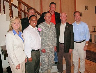 Keith Ellison - Reps. Mary Fallin, Keith Ellison, and Jerry McNerney meeting with General David Petraeus in 2007
