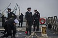 U.S. Sailors aboard the guided missile destroyer USS Truxtun (DDG 103) prepare to pull into Constanța, Romania, March 8, 2014 140308-N-EI510-193.jpg