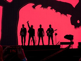 "The Joshua Tree Tour 2017 - U2 preparing to play ""Where the Streets Have No Name"", commencing a sequential performance of The Joshua Tree in Dublin on 22 July 2017. The band felt challenged in structuring the set list for the tour."
