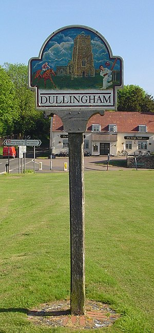 Dullingham - Signpost in Dullingham