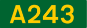 A243 road shield