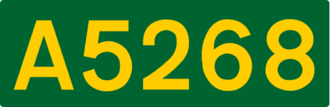 A51 road - Image: UK road A5268