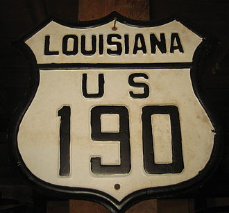 U.S. Route 190 - Old US 190 sign