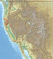 USA Region West relief Klamath Mountains location map.jpg