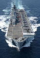 USMC Harriers line the deck of HMS Illustrious MOD 45147594.jpg