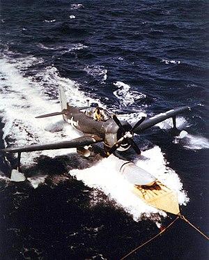 Curtiss SC Seahawk - Image: USS Alaska (CB 1) recovering SC 1 recce plane