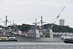 USS Chancellorsville(CG-62) left front view at U.S. Fleet Activities Yokosuka April 30, 2018 01.jpg