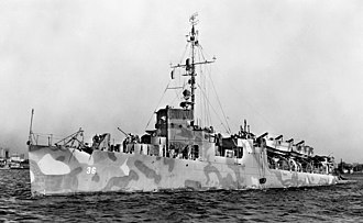 USS Greene (DD-266) - Greene in January 1945.