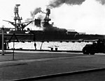 USS Nevada burning-Pearl Harbor.jpg