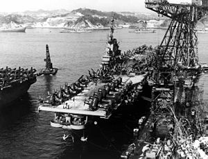 United States Fleet Activities Yokosuka - USS ''Oriskany'' (CVA-34) at Yokosuka, circa 1952