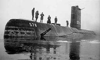 USS Skate (SSN-578) - USS Skate – Skate (SSN-578) in August 1958, possibly at Drifting Ice Station Alfa
