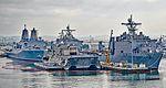 USS Somerset (LPD-25) - USS Independence (LCS-2) - USS Pearl Harbor (LSD-52) (25003227564).jpg