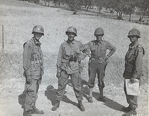 Matthew Ridgway - Major General Matthew Ridgway and members of his staff outside of Ribera, Sicily on July 25, 1943