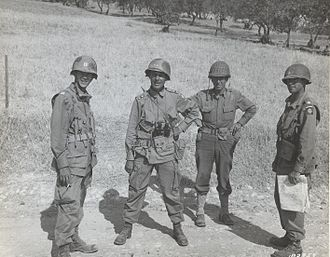 Matthew Ridgway - Major General Matthew Ridgway and members of his staff outside of Ribera, Sicily on July 25, 1943