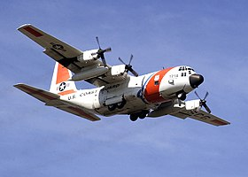 US Navy 021220-N-7590D-044 HC-130 aircraft from the U.S. Coast Guard Air Station Barbers Point, Hawaii, performs a homeland security flight.jpg