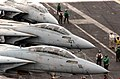 US Navy 030408-N-7986B-005 F-14 Tomcat aircrews assigned to the Swordsmen of Fighter Squadron Thirty Two (VF-32) prepare for daily flight operations.jpg