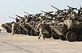 US Navy 031215-N-3236B-003 Marines assigned to the 13th Marine Expeditionary Unit (13th MEU) 1st Light Armor Reconnaissance Battalion Landing Team (1st LAR BLT 1-1) perform maintenance on Light Armored Vehicles.jpg