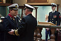 US Navy 040414-N-2383B-052 Adm. Vern Clark, Chief of Naval Operations (CNO), congratulates Vice Adm. Ruurt A. A. Klaver, Commander-in-Chief, Royal Netherlands Navy, after presenting him the Legion of Merit award.jpg