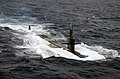 US Navy 040712-N-7748K-004 The Los Angeles-class submarine USS Albuquerque (SSN 706) surfaces in the Atlantic Ocean while participating in Majestic Eagle 2004.jpg