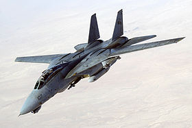 US Navy 051105-F-5480T-015 An F-14D Tomcat, conducts a mission over the Persian Gulf-region.jpg