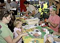 US Navy 070421-N-1280S-005 Families participate in craft activities during Springfest, an event that celebrates children during the Month of the Military Child on Naval Station Pearl Harbor.jpg