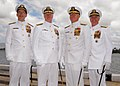 US Navy 070508-N-4965F-034 Chief of Naval Operations (CNO) Adm. Mike Mullen, Adm. Gary Roughead, Adm. Robert F. Willard, Commander, U.S. Pacific Fleet, and Adm. Timothy J. Keating, Commander, U.S. Pacific Command, pose for a ph.jpg